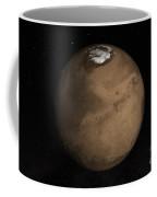 Planet Mars Slightly Tilted To Show Coffee Mug