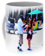 Playing For A Pretty Girl - New Orleans Coffee Mug