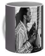 Playing The Koro - Black And White Coffee Mug