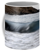 playing with waves 1 - A beautiful image of a wave rolling in noth coast of Menorca Coffee Mug