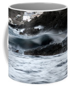playing with waves 2 - A beautiful image of a wave rolling in noth coast of Menorca Cala Mesquida Coffee Mug