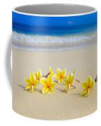 Plumerias On Beach II Coffee Mug