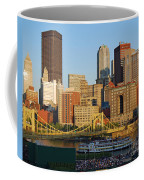Pnc Park And River Boat Coffee Mug