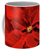 Poinsettia Red Christmas Flower Abstract Artwork Coffee Mug
