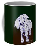 Pointillism Elephant Coffee Mug
