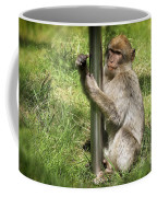 Pole Dancing Macaque Style Coffee Mug