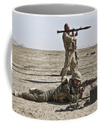 Polish Soldiers Prepare To Fire Coffee Mug by Stocktrek Images