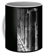 Pompeii Columns Black And White Coffee Mug