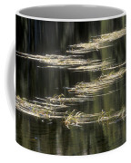 Pond And Grass Abstract Coffee Mug