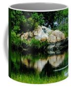 Pool In Marsh At Mystic Ct Coffee Mug