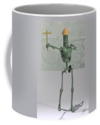 Pope Robot Green Plastic Coffee Mug
