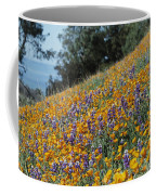 Poppies And Lupine Flowers Blanket Coffee Mug