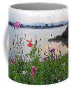Poppies By The River Coffee Mug