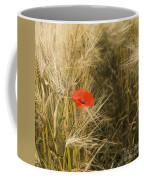Poppies  In A Field Of Barley   Coffee Mug