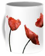 Poppies On White Coffee Mug