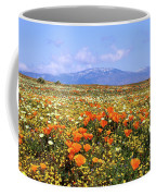 Poppies Over The Mountain Coffee Mug