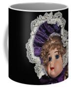 Porcelain Doll - Head And Bonnet Coffee Mug