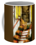 Porch - Westifeld Nj - In The Light Of Autumn Coffee Mug by Mike Savad