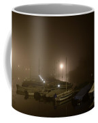 Port At Night In The Fog Coffee Mug