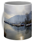 Port With Snow-capped Mountain Coffee Mug