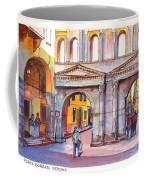 Porta Borsari Verona  First Century Ad Roman Gate Coffee Mug