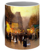 Porte St Martin At Christmas Time In Paris Coffee Mug