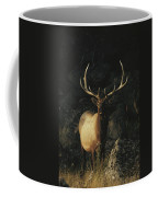 Portrait Of A Bull Elk With Large Coffee Mug by Michael S. Quinton