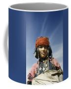 Portrait Of A Nomadic North African Coffee Mug by Maynard Owen Williams
