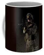 Portrait Of A U.s. Marine Wearing Night Coffee Mug