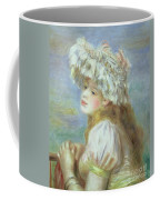 Portrait Of A Young Woman In A Lace Hat Coffee Mug by Pierre Auguste  Renoir