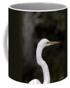 Portrait Of An Egret Coffee Mug