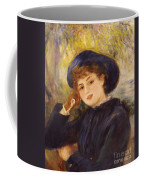 Portrait Of Mademoiselle Demarsy Coffee Mug by Pierre Auguste Renoir