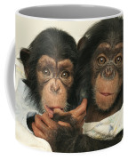 Portrait Of Two Young Laboratory Chimps Coffee Mug