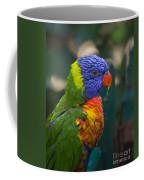 Posing Rainbow Lorikeet. Coffee Mug