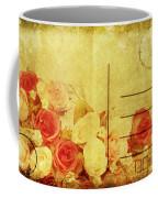 Postcard With Floral Pattern Coffee Mug