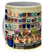 Pots And Birdhouses Coffee Mug