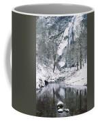 Powerscourt Waterfall In Winter, County Coffee Mug