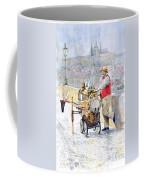 Prague Charles Bridge Organ Grinder-seller Happiness  Coffee Mug