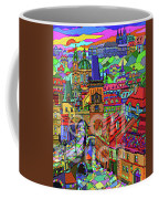 Prague Panorama With Charles Bridge Coffee Mug