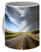 Prairie Hail Storm And Rainbow Coffee Mug