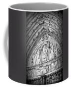 Prayers At Notre Dame - Black And White Coffee Mug