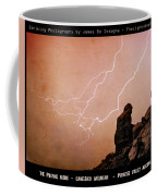 Praying Monk Camelback Mountain Lightning Monsoon Storm Image Tx Coffee Mug