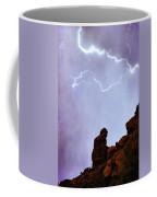 Praying Monk Camelback Mountain Paradise Valley Lightning  Storm Coffee Mug by James BO  Insogna