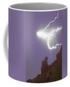 Praying Monk Lightning Halo Monsoon Thunderstorm Photography Coffee Mug