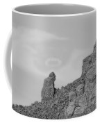 Praying Monk With Halo Camelback Mountain Bw Coffee Mug