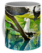 Preening Watercolor Coffee Mug