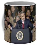 President George W. Bush Speaks Coffee Mug by Stocktrek Images