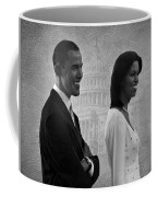 President Obama And First Lady Bw Coffee Mug by David Dehner