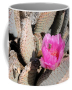 Prickly Pear Cactus Fertilized By Honey Bee Coffee Mug