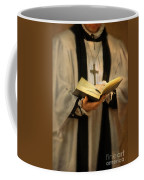 Priest With Open Bible Coffee Mug by Jill Battaglia